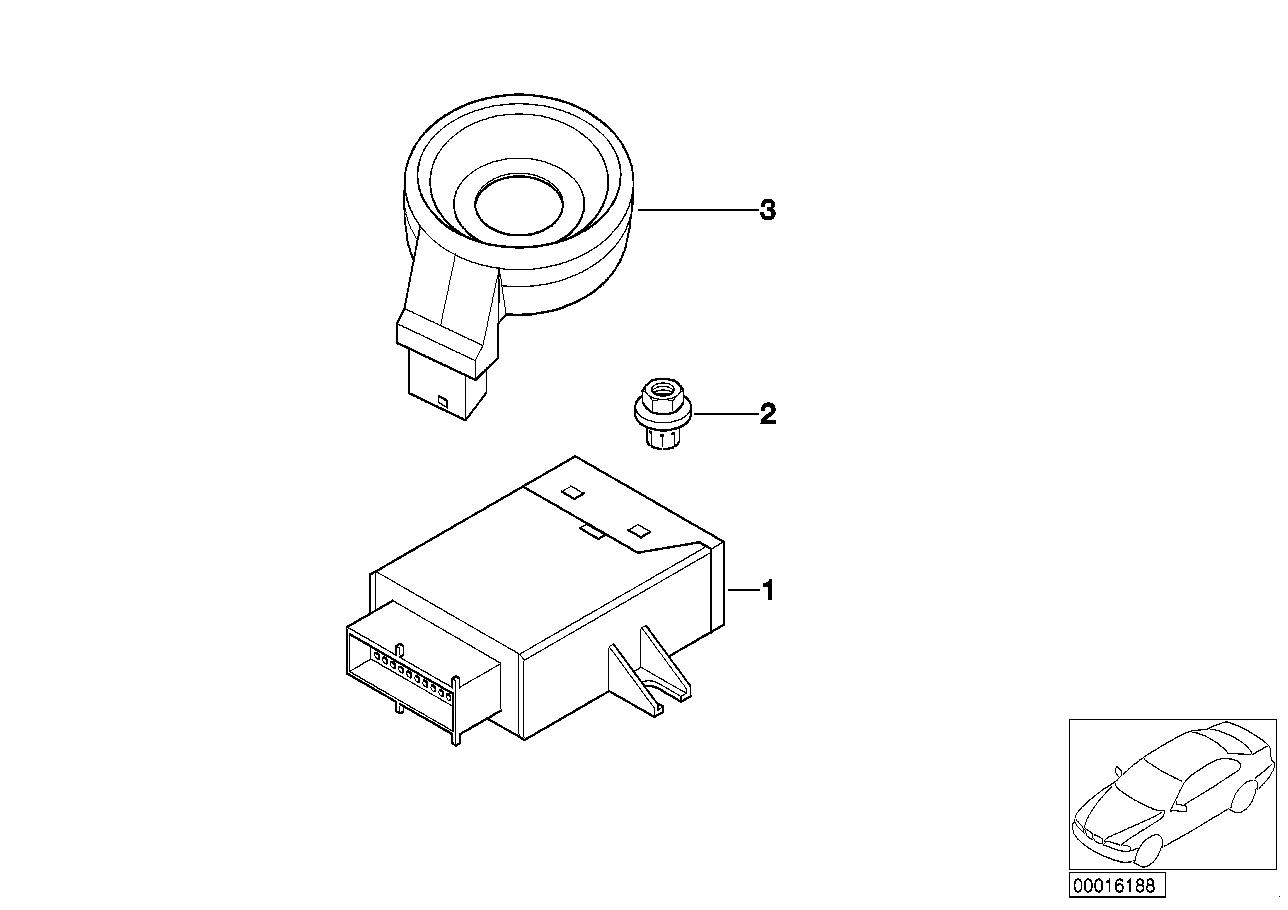 AM33 EWS control unit/tr module/support 61_1095