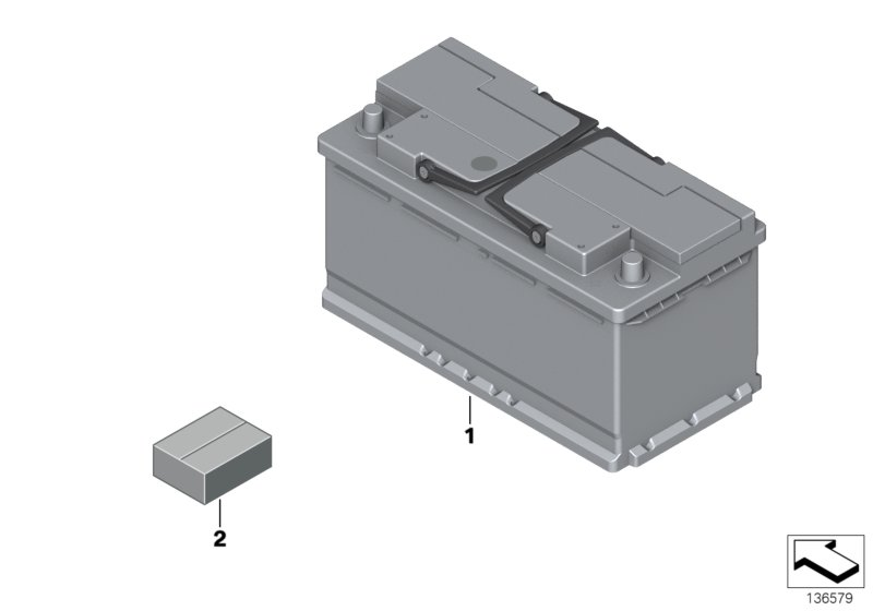 AM33 Original BMW battery 61_1113