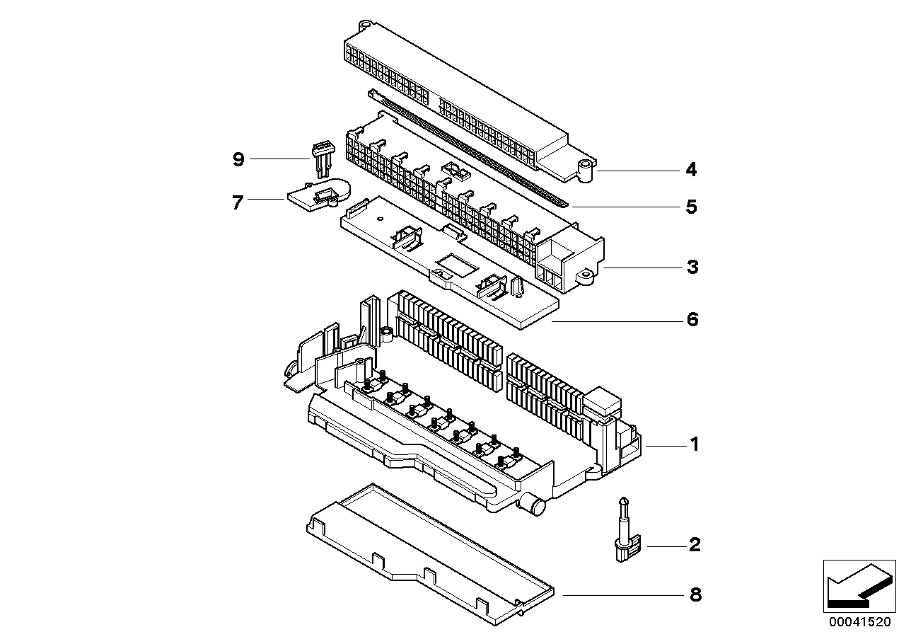 AM33 Single components for fuse box 61_1265