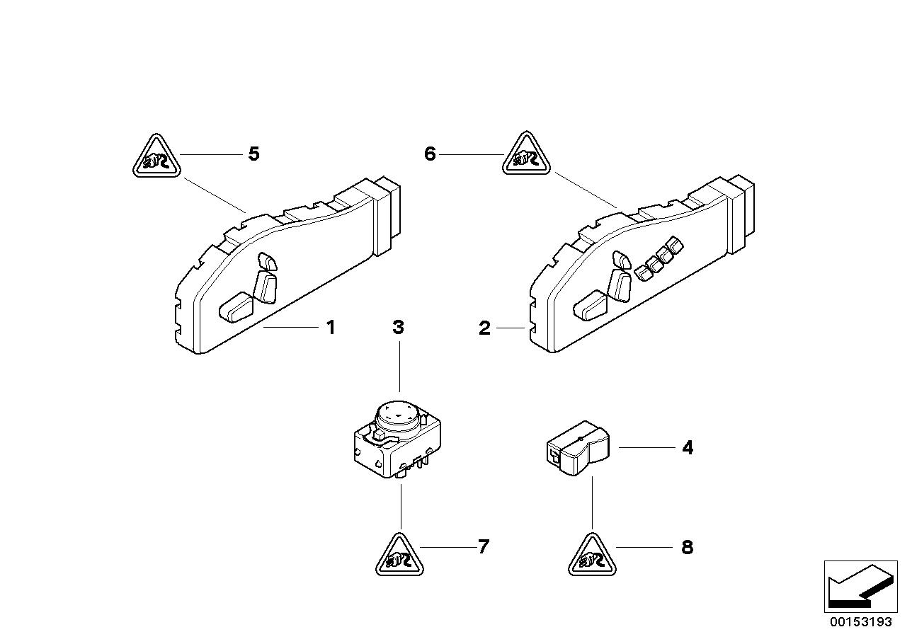 AM33 Switch, seat adjustment 61_1272