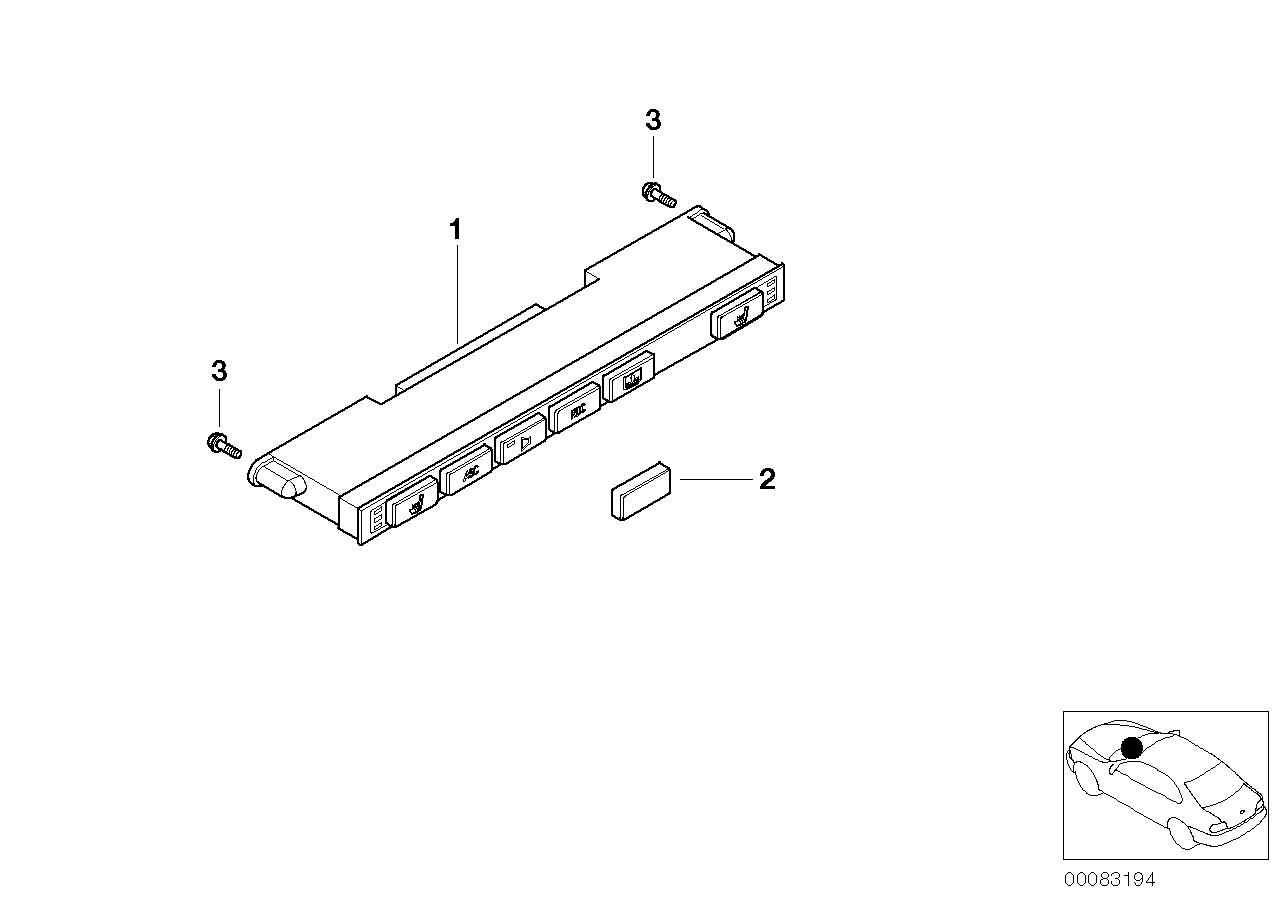 AM33 Switch unit, center console 61_1305