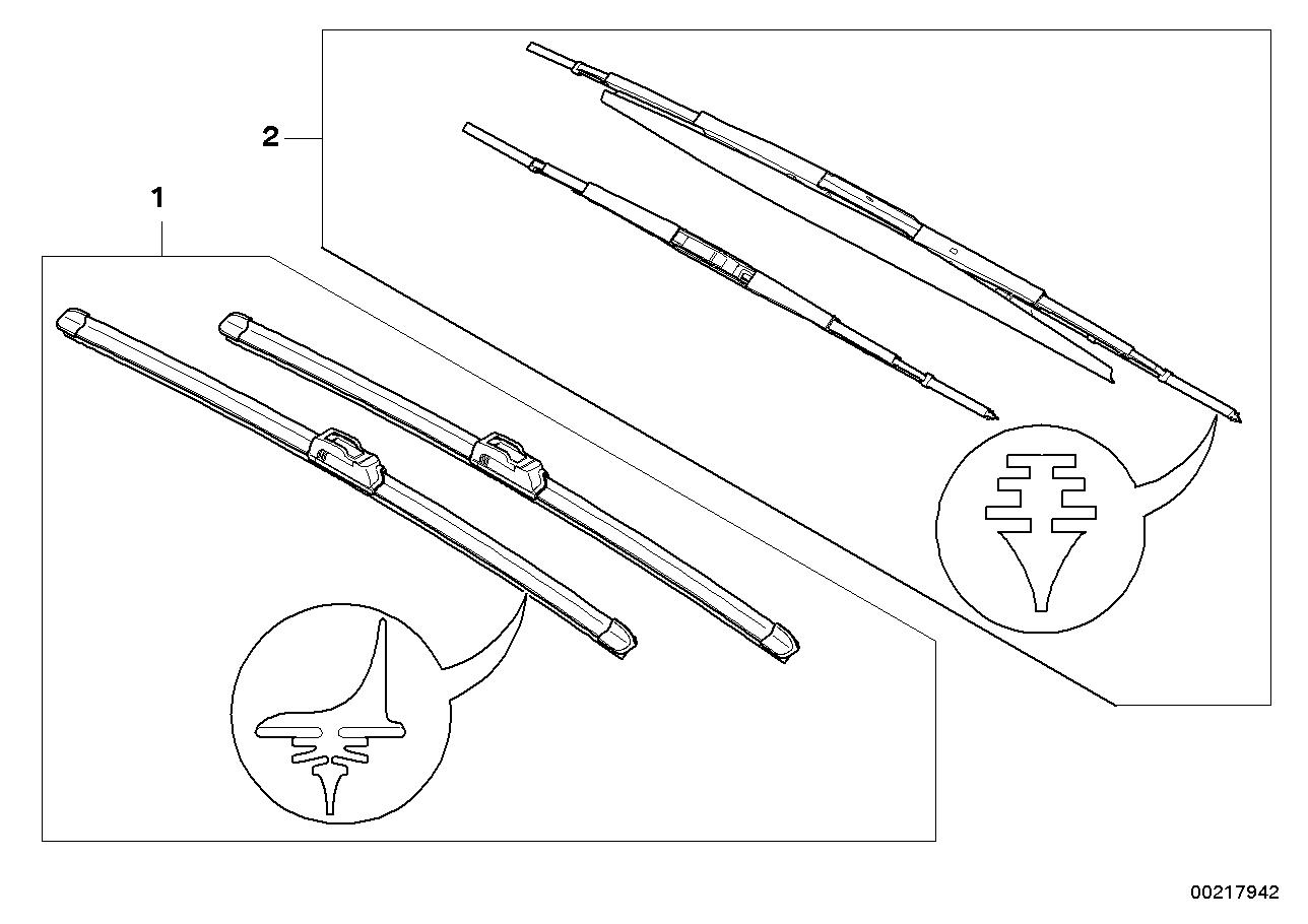 AM33 Set, wiper blades flat/articulated blade 61_2394