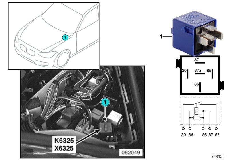 AM33 Relay for backup light K6325 61_3412