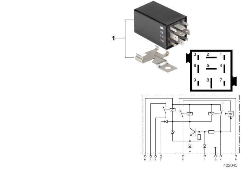 AM33 Relay for silent alarm, black 61_4482