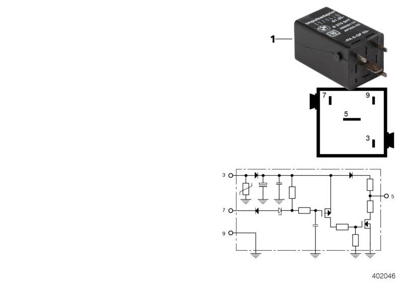 AM33 Relay, pulse adapter, black 61_4483