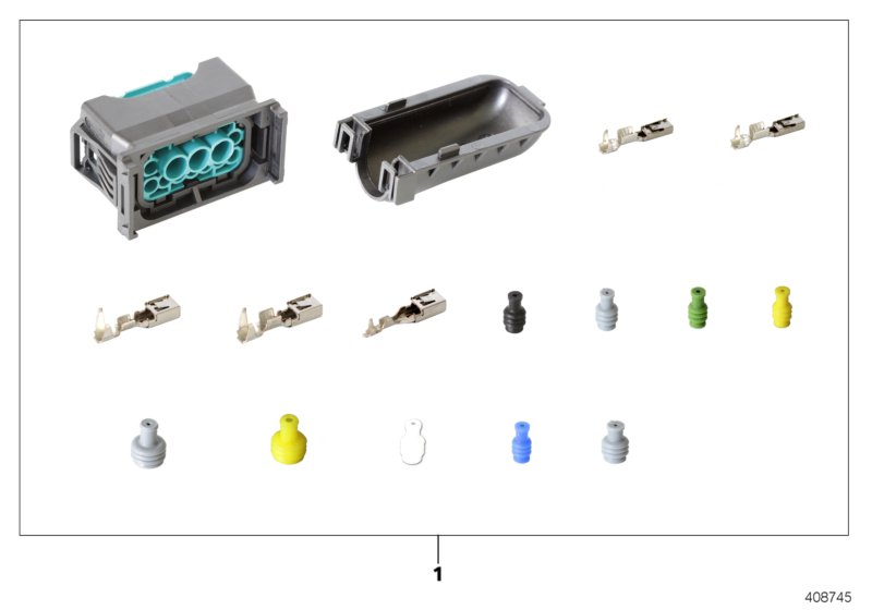 AM33 Rep. kit for socket housing, 12-pin 61_4707