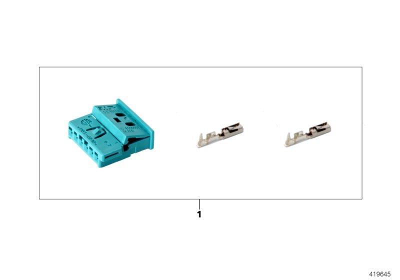 AM33 Rep. kit for socket housing, 6-pin 61_4710