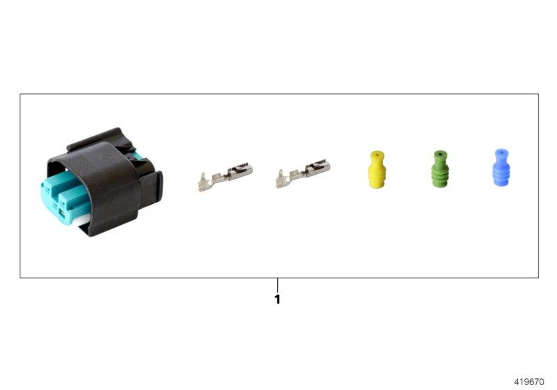 AM33 Repair kit for socket housing, 3-pin 61_4716