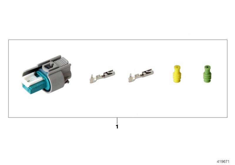 AM33 Repair kit for socket housing, 2-pin 61_4719