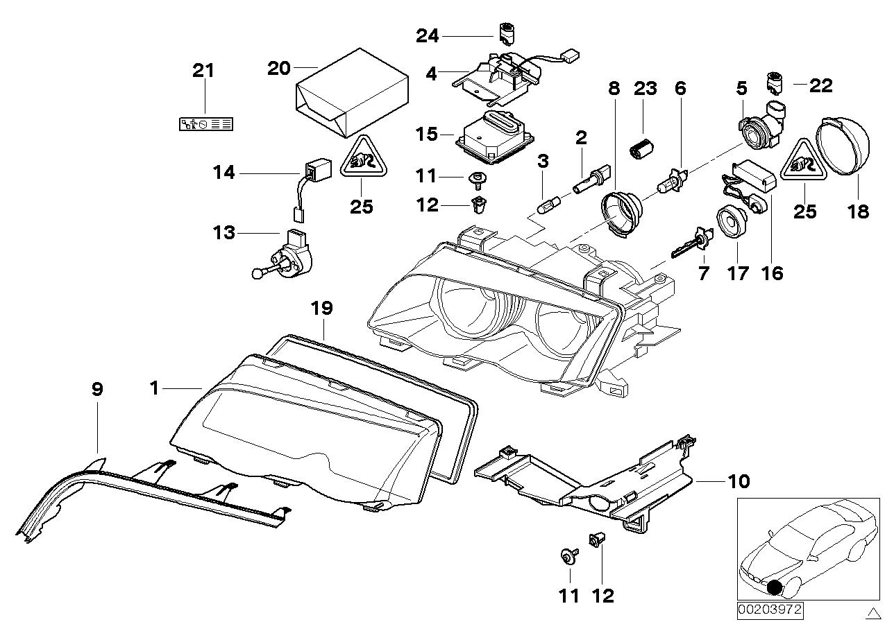 AM33 Single parts, xenon headlight 63_0550