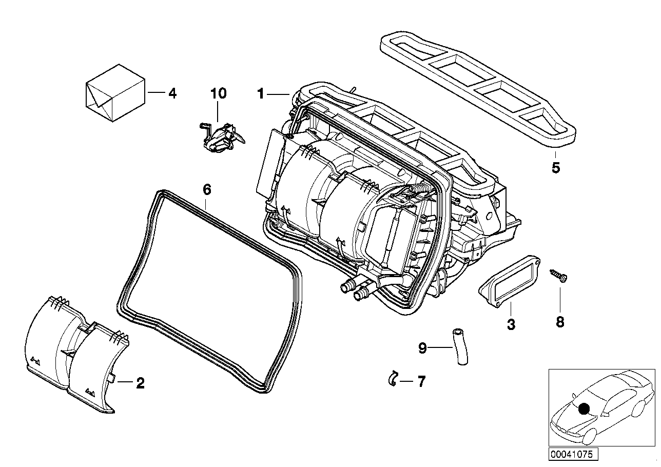 AM33 Housing parts – air conditioning 64_0817