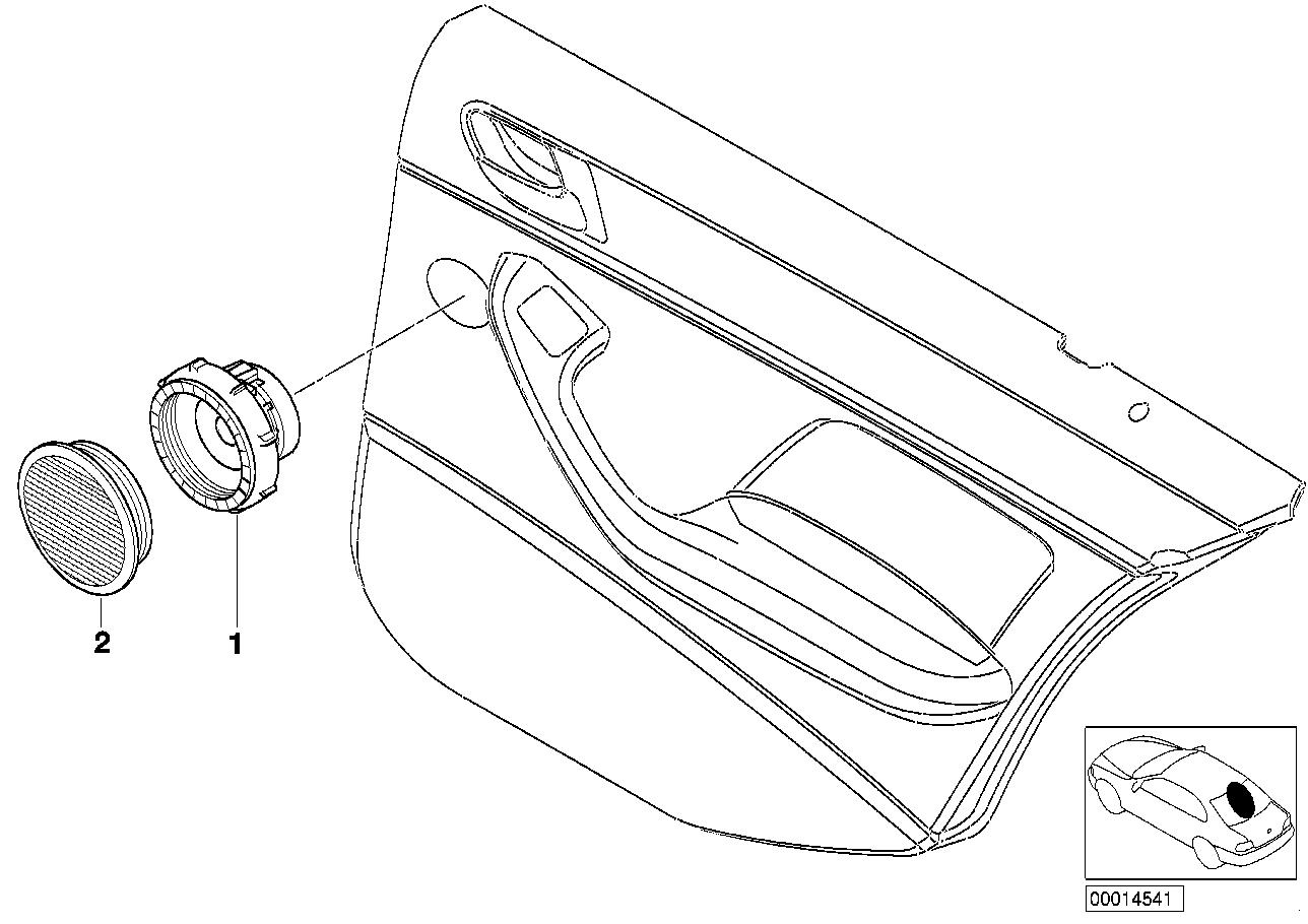 AM33 Single parts f rear door hifi system 65_0468