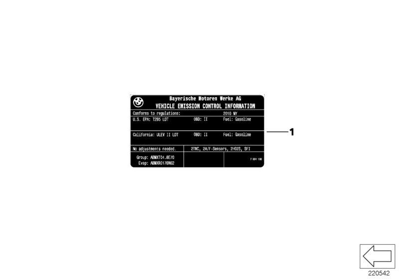 "AM33 Label ""Exhaust emission"" 71_0548"