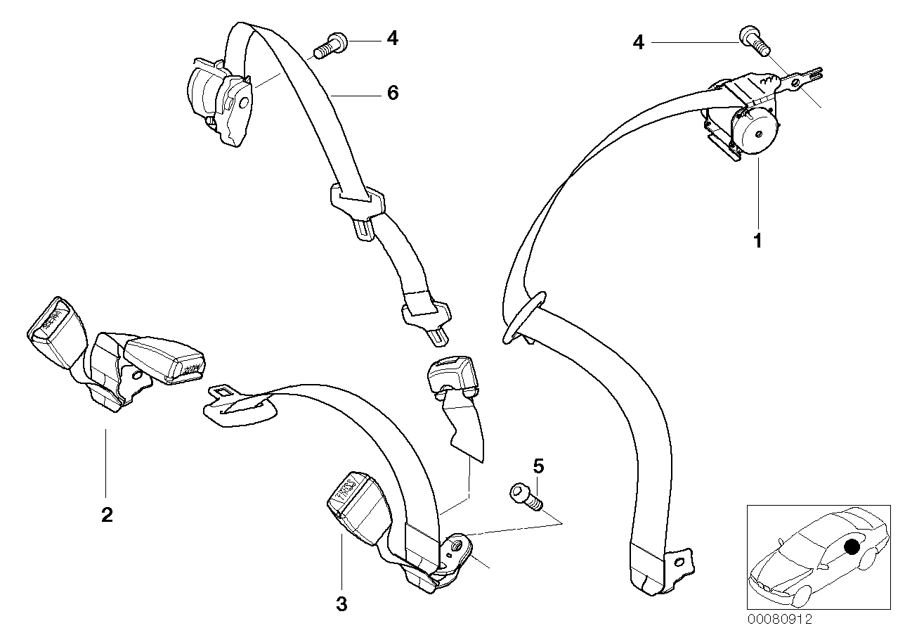 AM33 Safety belt rear 72_0299