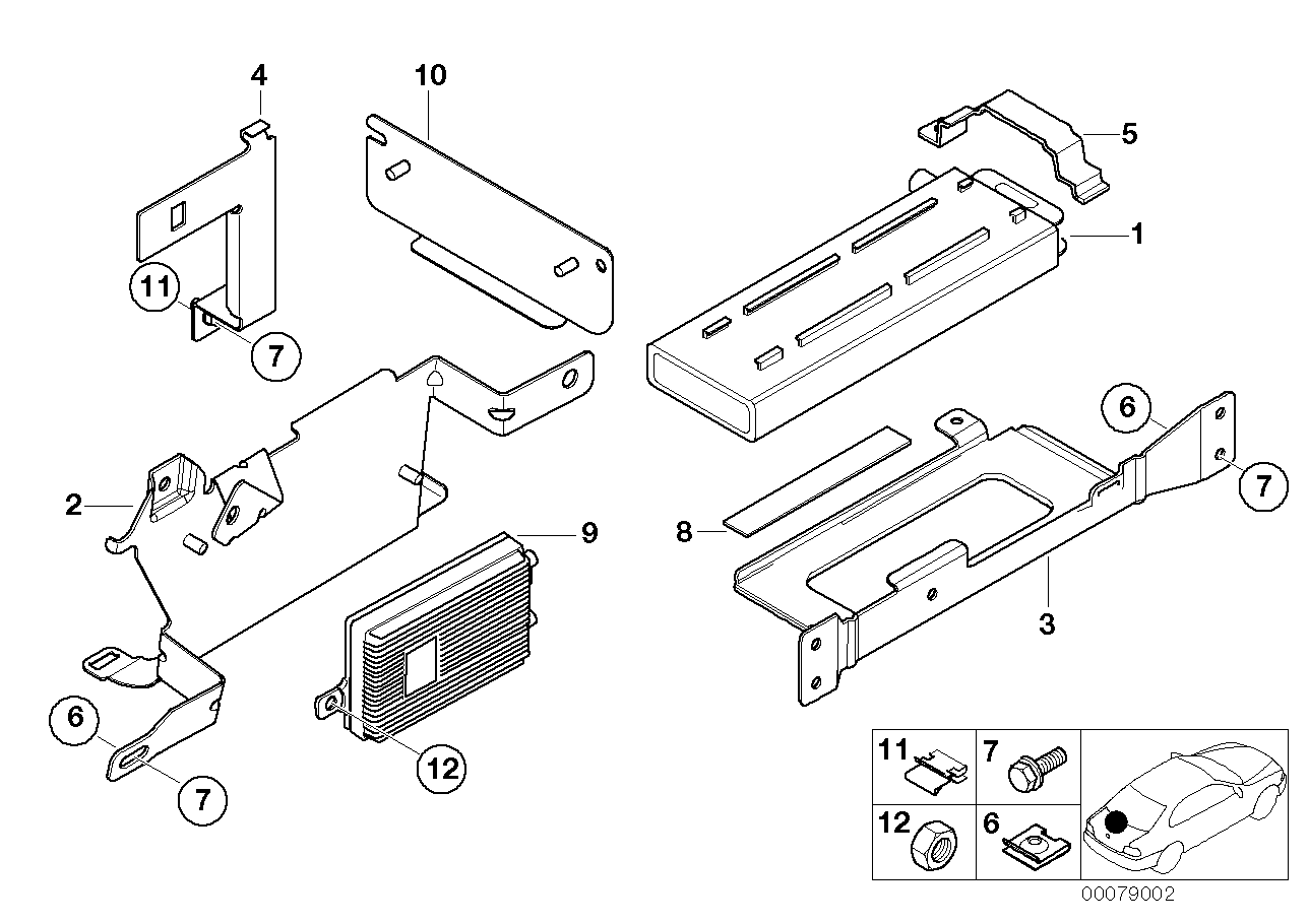 AM33 Single parts, SA 632, trunk 84_0090