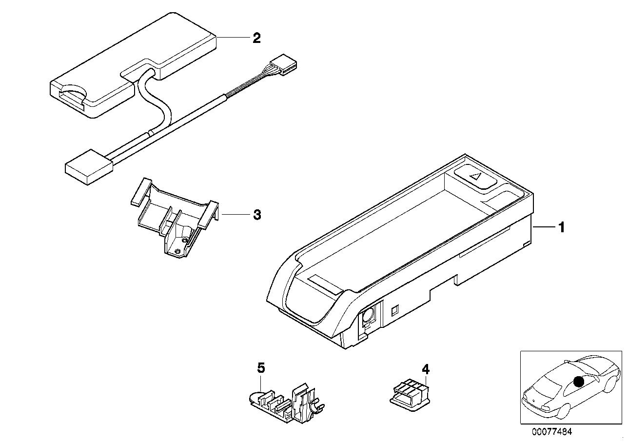 AM33 Single parts, SA 632, center console 84_0091