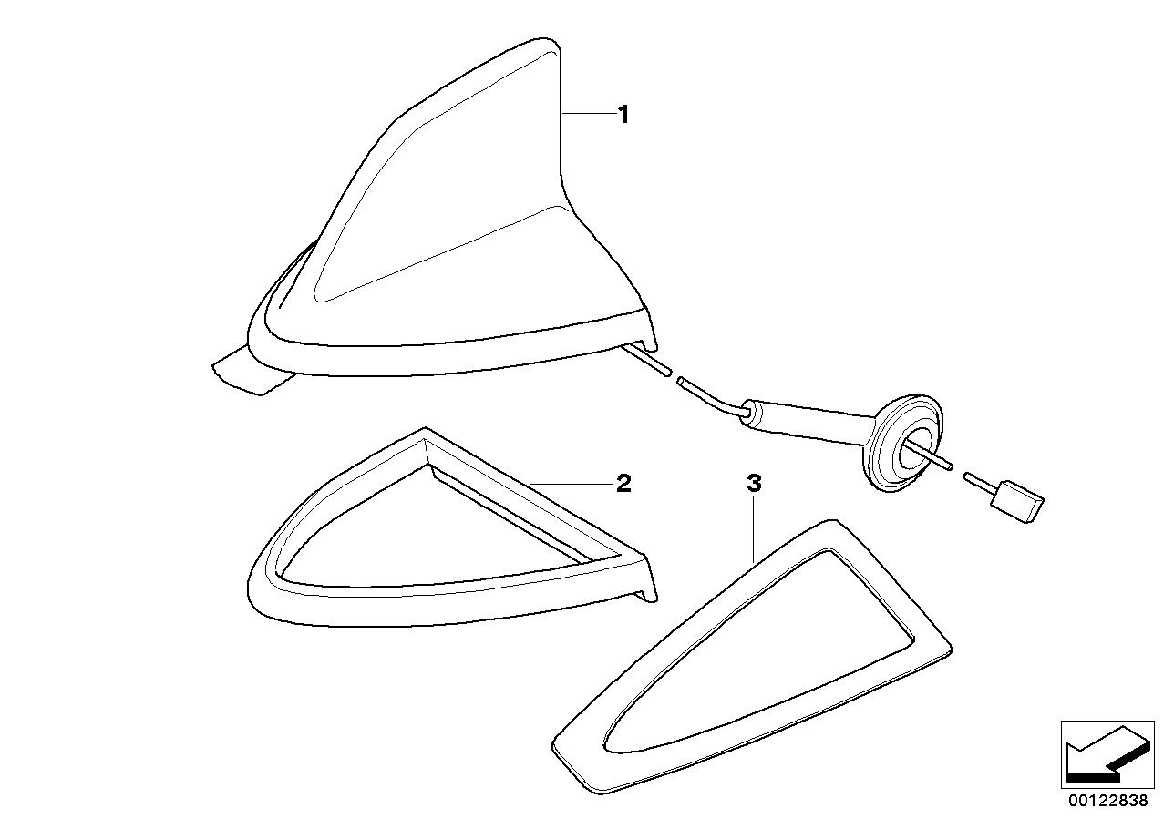 AM33 Single parts, teleph.antenna multi-band 84_0092