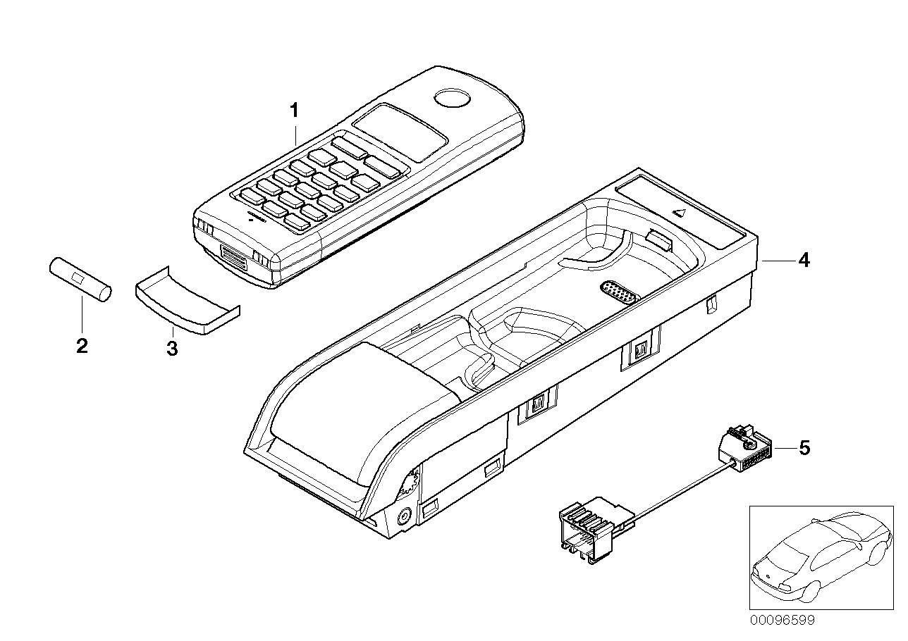 AM33 Single parts Cordless centre console 84_0415