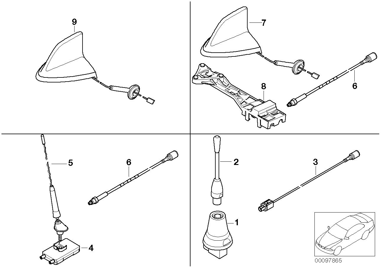 AM33 Single parts f V-series teleph. antenna 84_0454