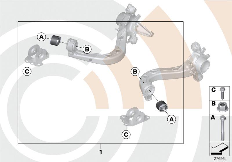 AM33 Repair kit for trailing arm 88_0015