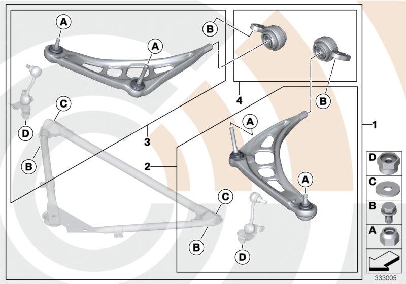 AM33 Service kit control arm / Value Line 88_0016