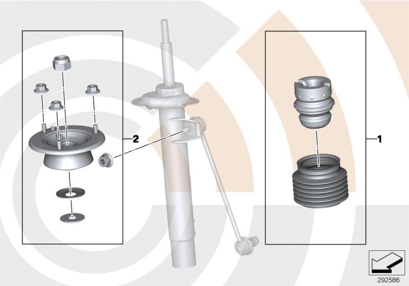 AM33 Repair kits for shock absorbers, rear 88_0019