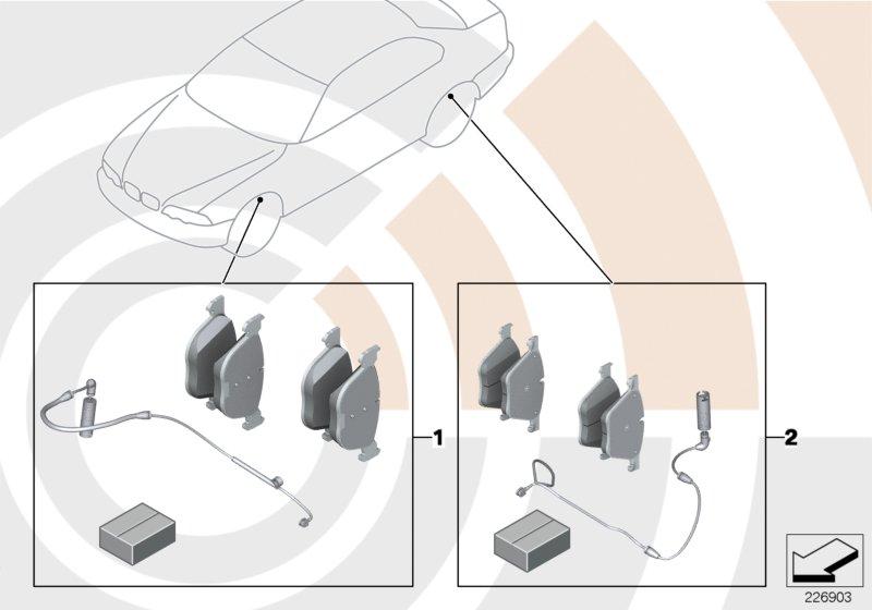 AM33 Service Kit for brake pads / Value Line 88_0023