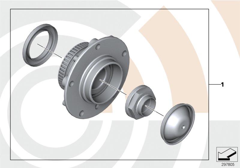 AM33 Kit, wheel bearing, front / Value Line 88_0048