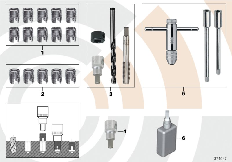 AM33 Repair kit, thread repair 88_0163