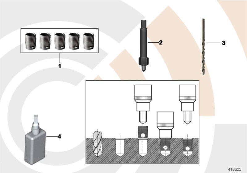 AM33 Repair kit, thread repair, thin-wall 88_0164