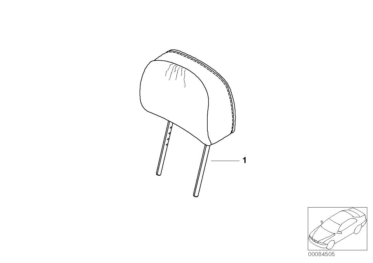 AM33 Indiv. headrest, standard seat, leather 91_0020