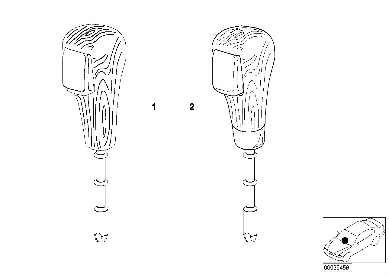 AM33 Individual selector lever handle, wood 91_0063