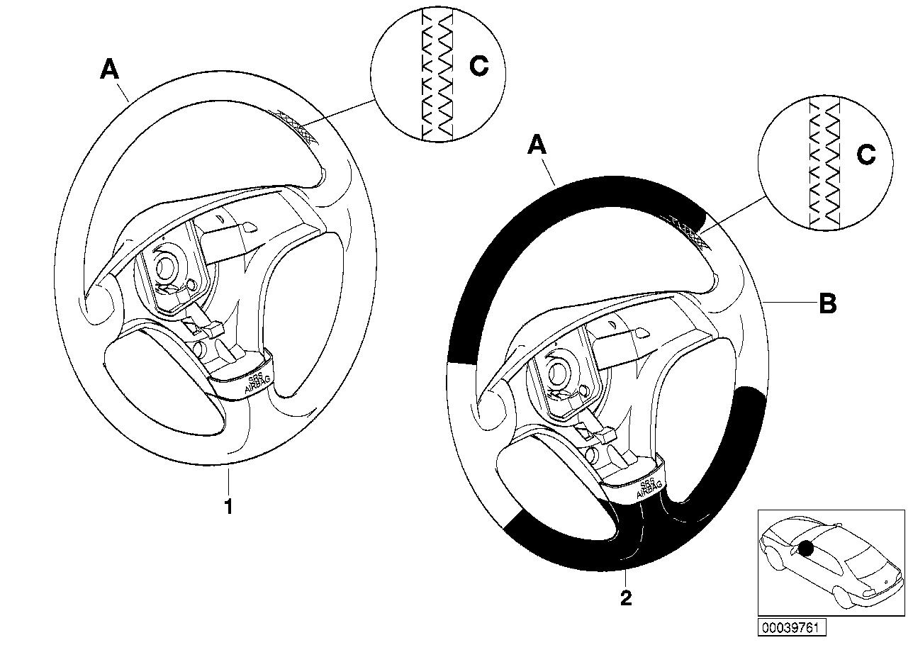 AM33 Individ. sports strng whl,airbag,SA 256 91_0074