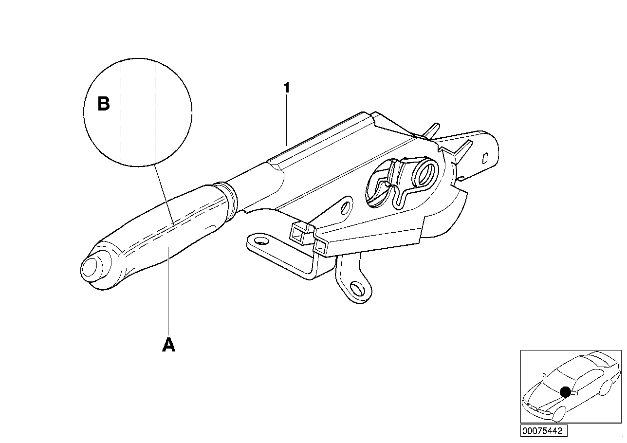 AM33 Individual handbrake lever, leather 91_0100