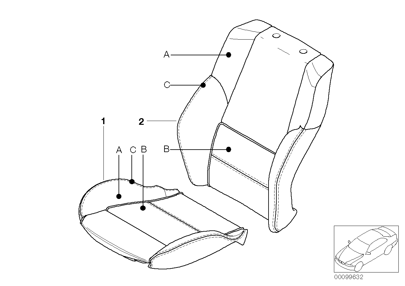 AM33 Individual cover, sports seat, leather 91_0364
