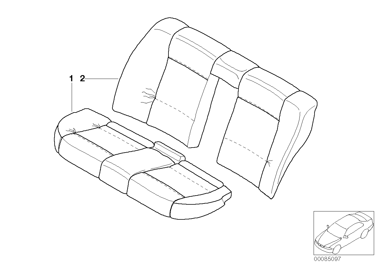 AM33 Individual cover, seat, rear, leather N6 91_0385