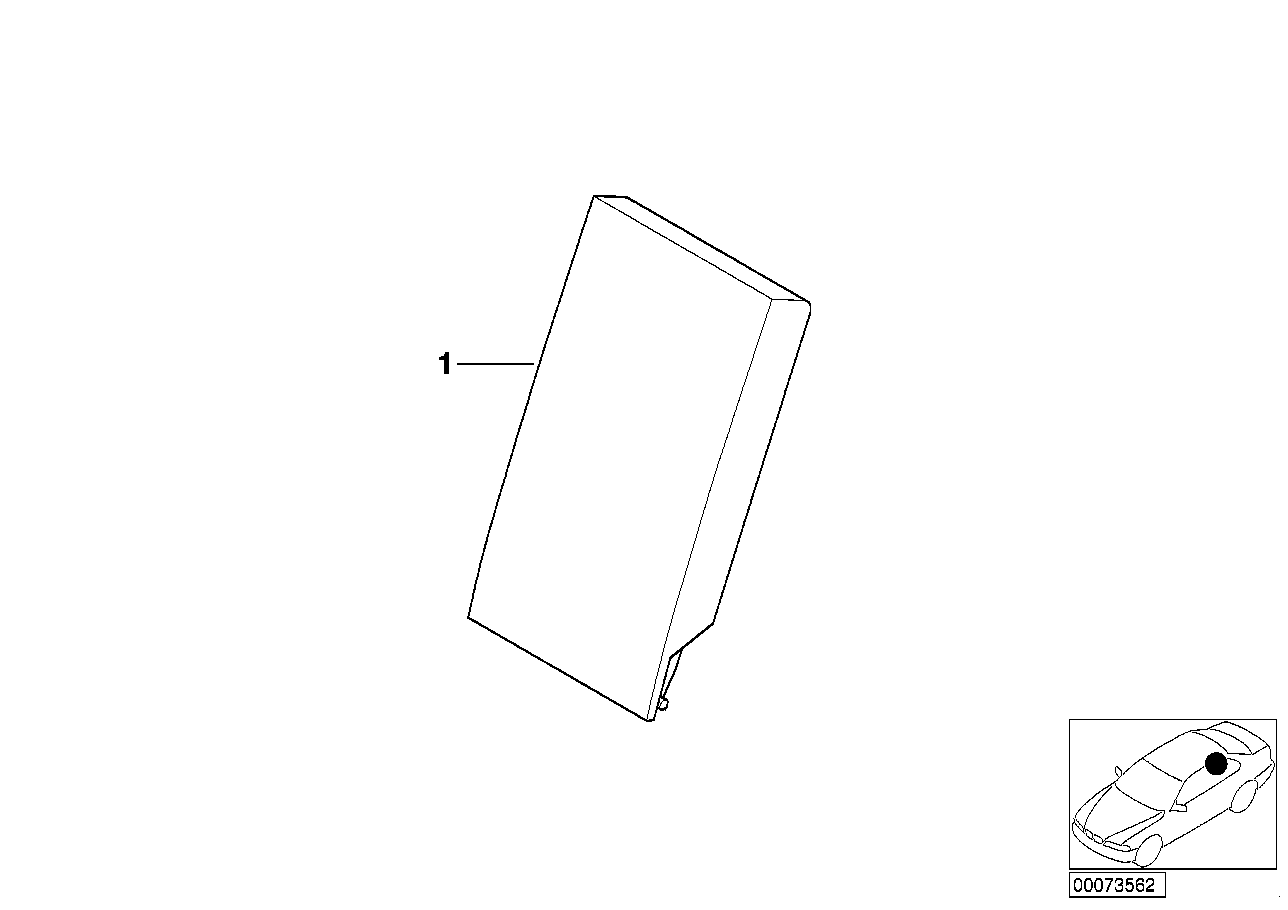 AM33 Individual r. load-through armrest, lthr 91_0403